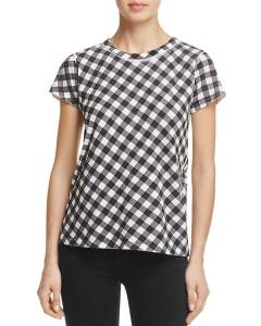 Black gingham t-shirt